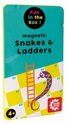 Magnetyczna gra podróżna, snakes i ładowarka, węże i drabina, klasyk gier w praktycznym metalowym pudełku, gra przewodnikowa dla dzieci i dorosłych