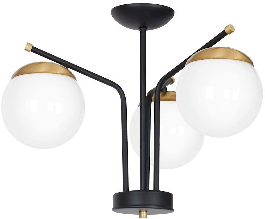 Milagro CARINA MLP4866 plafon lampa sufitowa metal / szkło kule rustykalny 3xE14 60cm