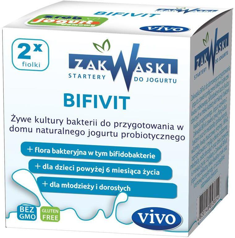 Żywe kultury bakterii do jogurtu bifivit 1 g 2 fiolki - vivo
