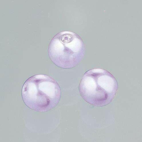 EFCO Koraliki z wosku szklanego połyskujące 4 mm 75 szt. jasnoszary 3 x 3 x 2 cm