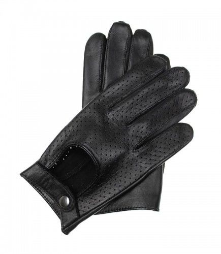 Wygodne męskie rękawiczki samochodowe perforowane, z funkcją obsługi ekranów dotykowych