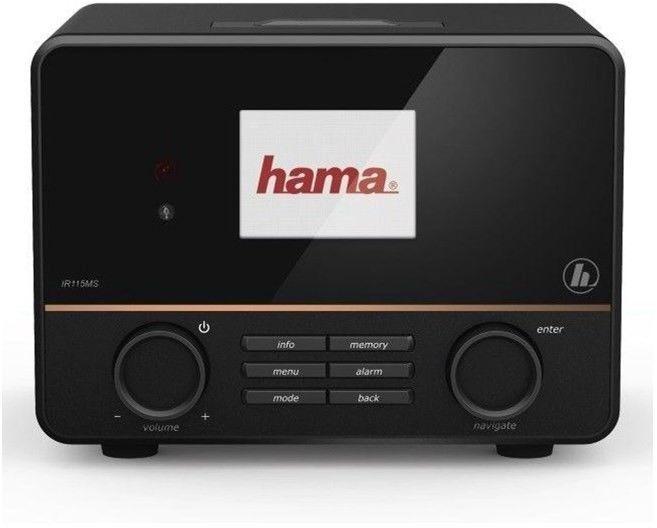 RADIO INTERNETOWE HAMA IR115MS WIFI USB SPOTIFY CZARNE