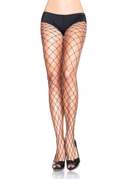 Leg Avenue Fence Net Pantyhose 9905 - Black Fishnet Stockings