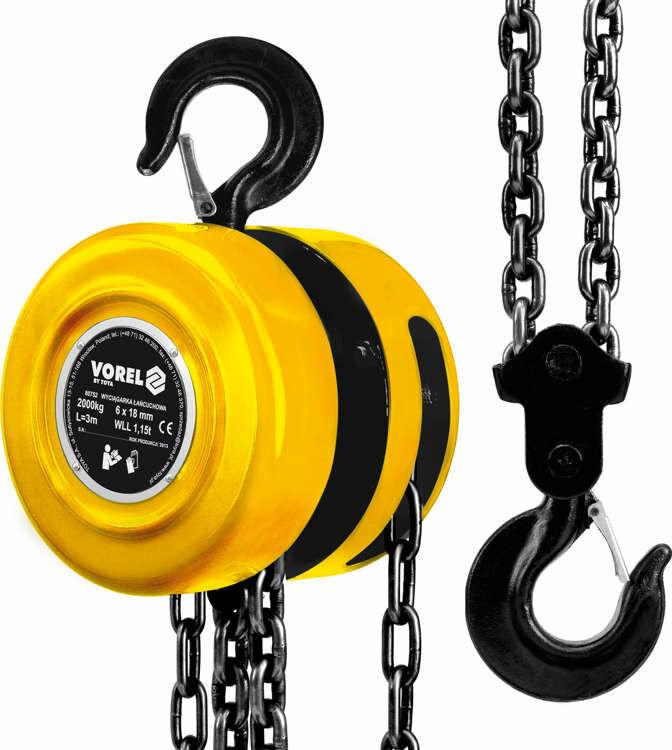 Wyciągarka łańcuchowa 2000 kg Vorel 80752 - ZYSKAJ RABAT 30 ZŁ