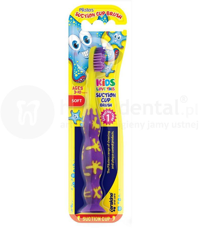 PIKSTERS SuctionCUP szczoteczka dla dzieci 3-10 lat