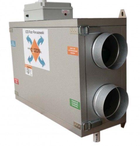 Centrala wentylacyjna 200/150 jon16 Rekuperator + Jonizator + Sterownik, Przeciwprądowy