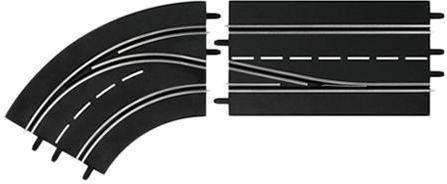 Carrera DIGITAL 132 - Zakręt w lewo ze zmianą pasa 30362
