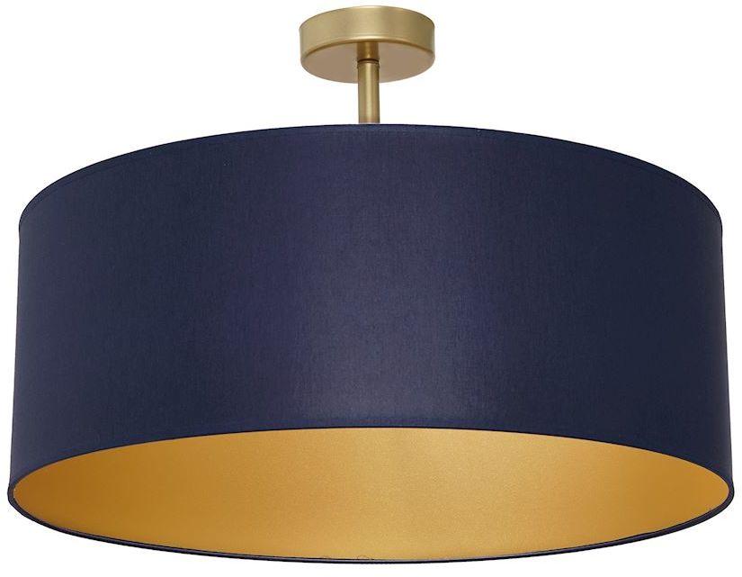 Milagro BEN NAVY BLUE/GOLD MLP6457 plafon lampa sufitowa klosz tkanina granatowa złota 3xE27 50cm