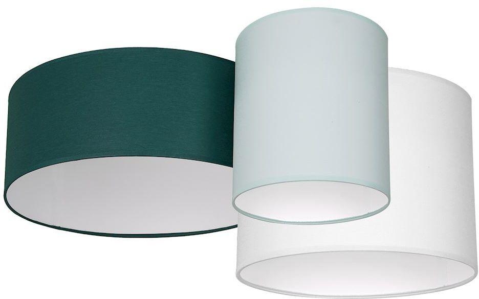 Milagro STAN GREEN MLP64580 plafon lampa sufitowa trzy abażury tkanina 3xE27 70cm