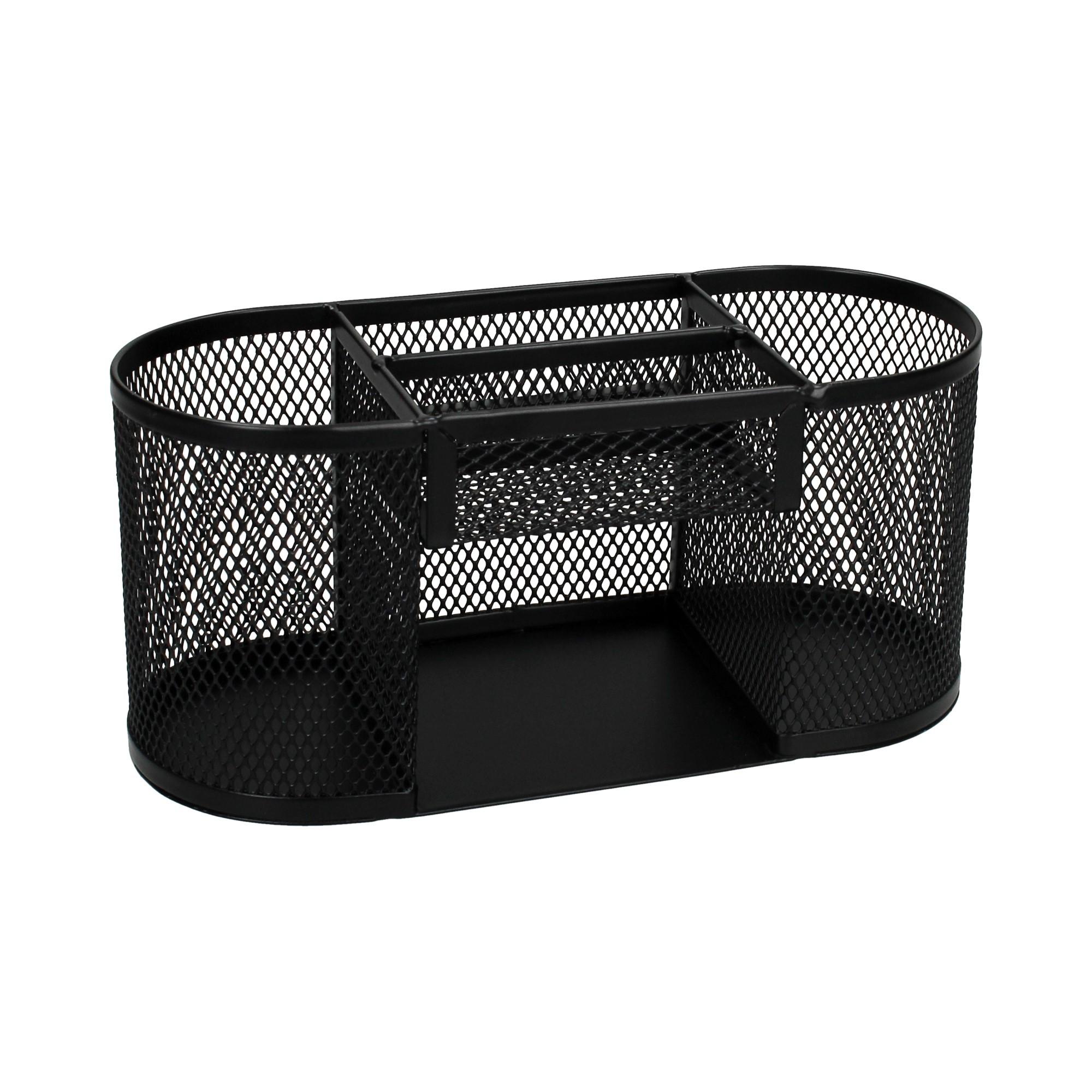 Przybornik na biurko siatka czarny Net Z9087