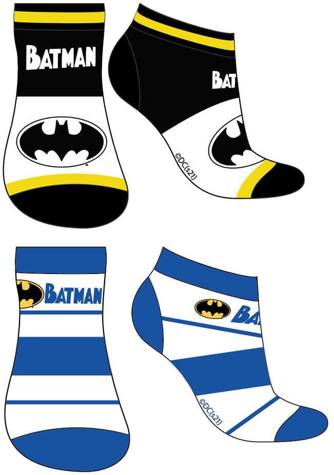Skarpetki stopki chłopięce BATMAN Komplet - 2 pary