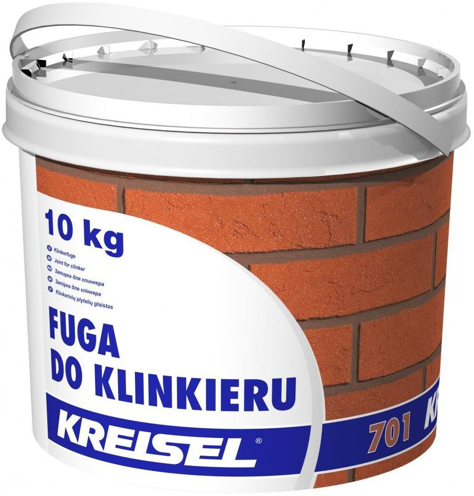 Fuga do klinkieru 701 Grafitowa 10 kg KREISEL