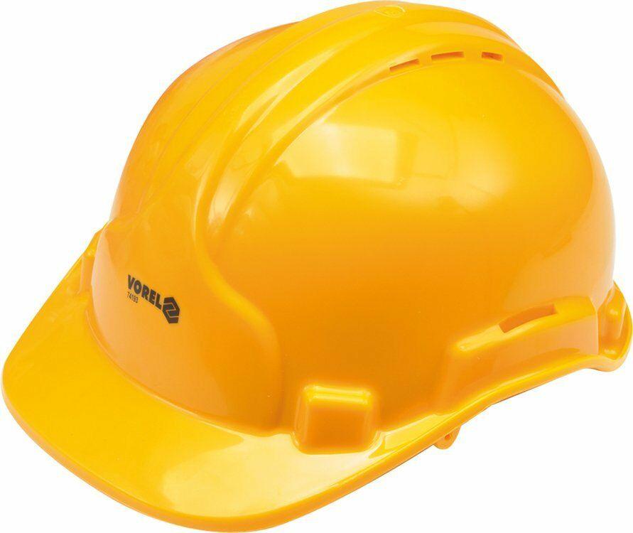 Kask ochronny żółty Vorel 74193 - ZYSKAJ RABAT 30 ZŁ