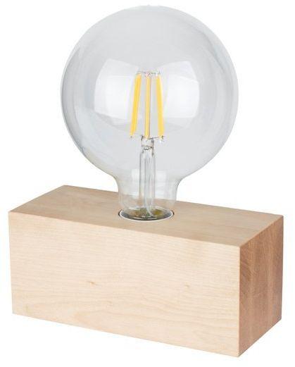 Lampa stołowa theo 1-punktowa z drewna brzozy 7460160