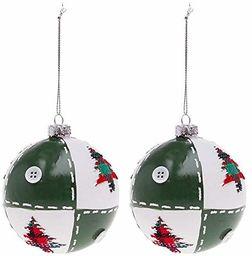 BigBuy bombki świąteczne, zielone, 8 cm