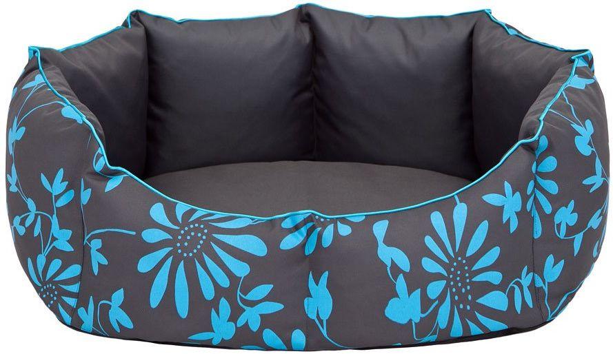 Hobbydog M NYRNKW5 Dog Bed New York M 50 x 40 cm Blue Flowers, M, Blue, 1 kg