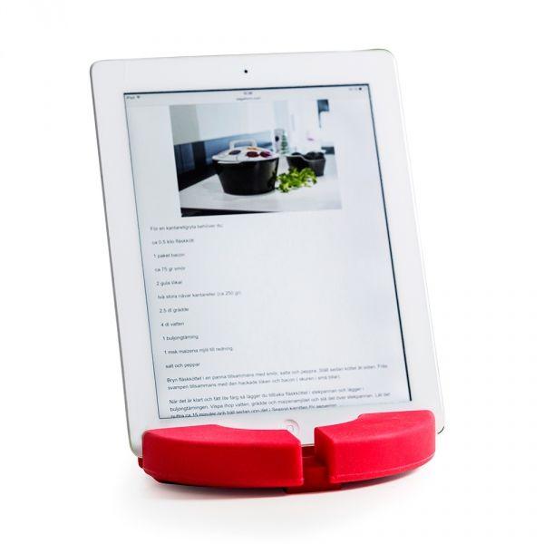 Sagaform COOK''N READ Podkładka pod Garnek - Uchwyt na Tablet - Czerwony