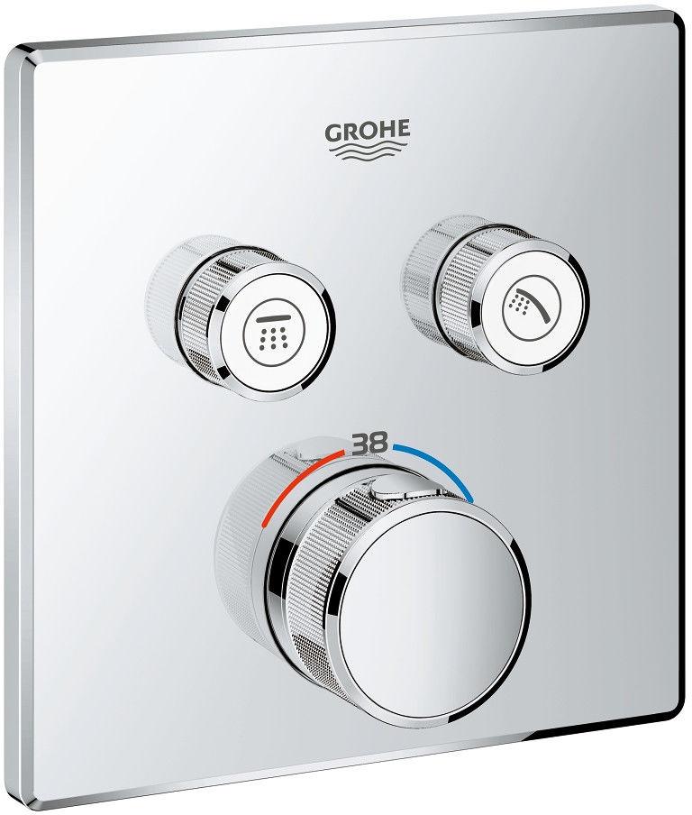 Grohtherm SmartControl bateria wannowo-prysznicowa podtynkowa termostatyczna chrom - 29124000 Darmowa dostawa