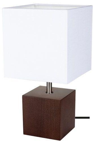 Lampa stołowa theo 1-punktowa z drewna bukowego o kolorze orzech 7199176