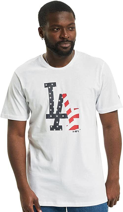 New Era MLB Infill Team Logo Tee Losdod T-shirt, męski, biały, M