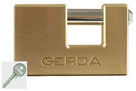 Kłódka trzpieniowa MOSIĘŻNA 90 MM GERDA