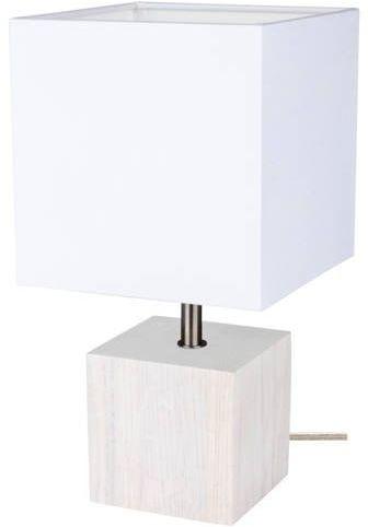 Lampa stołowa theo 1-punktowa z drewna dębu o kolorze dąb bielony 7191032