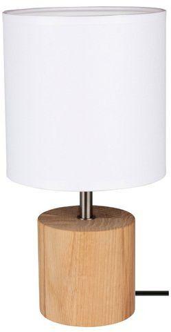 Lampa stołowa theo 1-punktowa z drewna dębowego kolor dąb olejowany 7181974