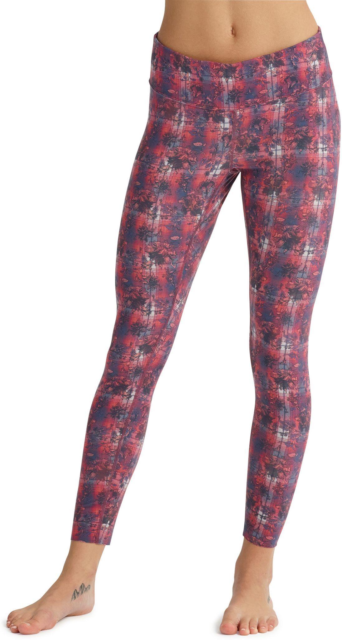 bielizna termoaktywna damska - spodnie BURTON MIDWEIGHT PANT Nevermind Floral