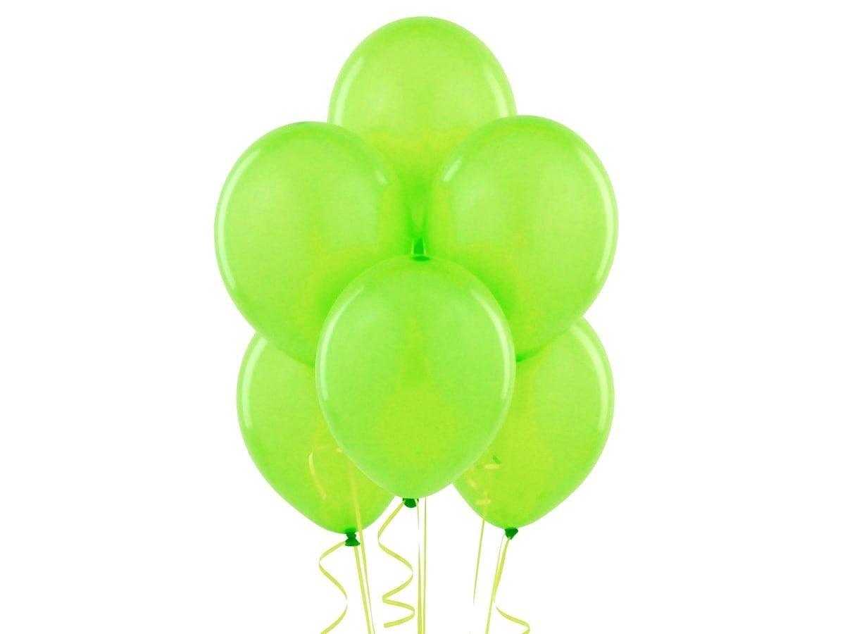 Balony lateksowe metaliczne jabłkowa zieleń - duże - 100 szt.