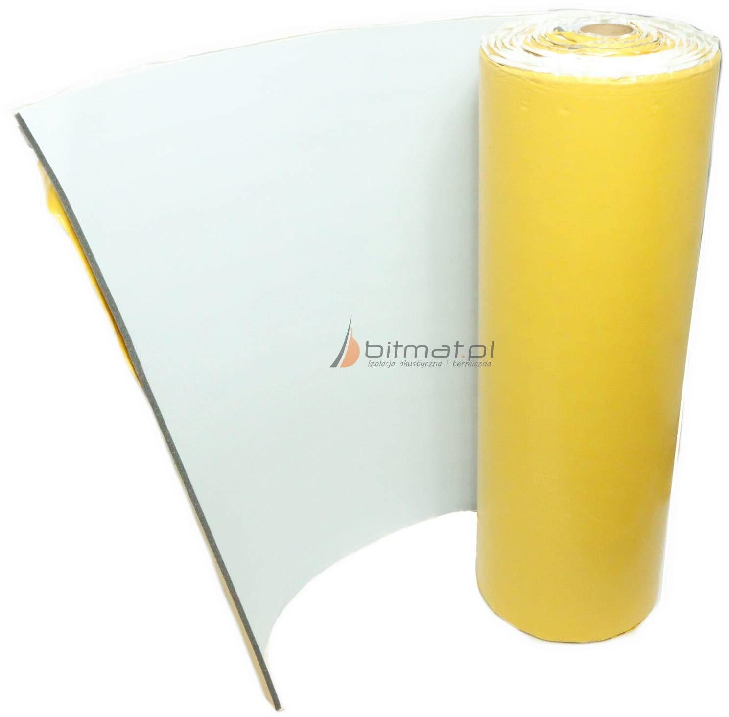 LT Biała pianka wyciszająca trudnopalna z klejem 25x100cm