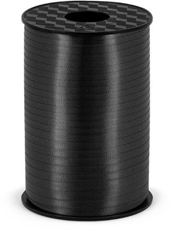 Wstążka plastikowa do balonów czarna 5mm 225m PRP5-010