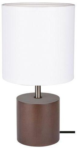 Lampa stołowa theo 1-punktowa z drewna bukowego w kolorze orzechowym 7181976