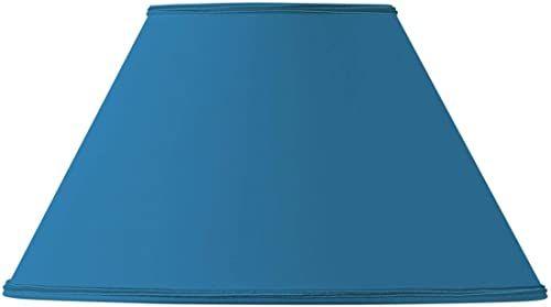 Klosz lampy w kształcie wiktoriańskim, średnica 45 x 19 x 27 cm, jasnoniebieski