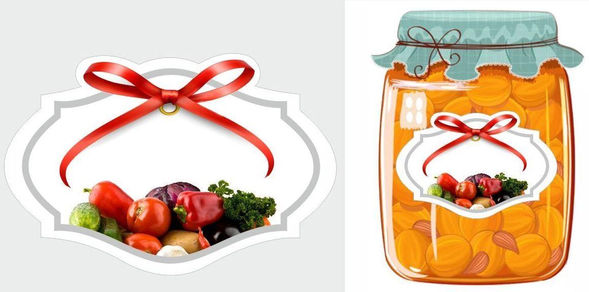 Etykiety przetwory warzywne