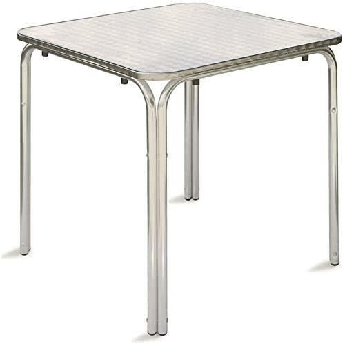 Italian Concept 207 kwadratowy stół Genoa, metal, biały, 70 x 70 x 70 cm