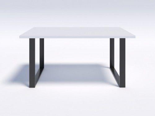 Stół z białym blatem w stylu modern loft NERO 160/90