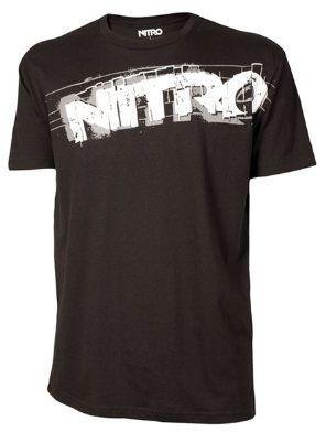 Nitro snowboardowa męska koszulka feedback S/S, czarna, S