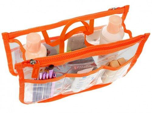 Organizer na kosmetyki do damskiej torebki PANAMA pomarańcz