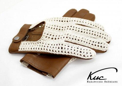 Stylowe męskie rękawiczki samochodowe w stylu włoskim, rękawiczki z tkaną siatką