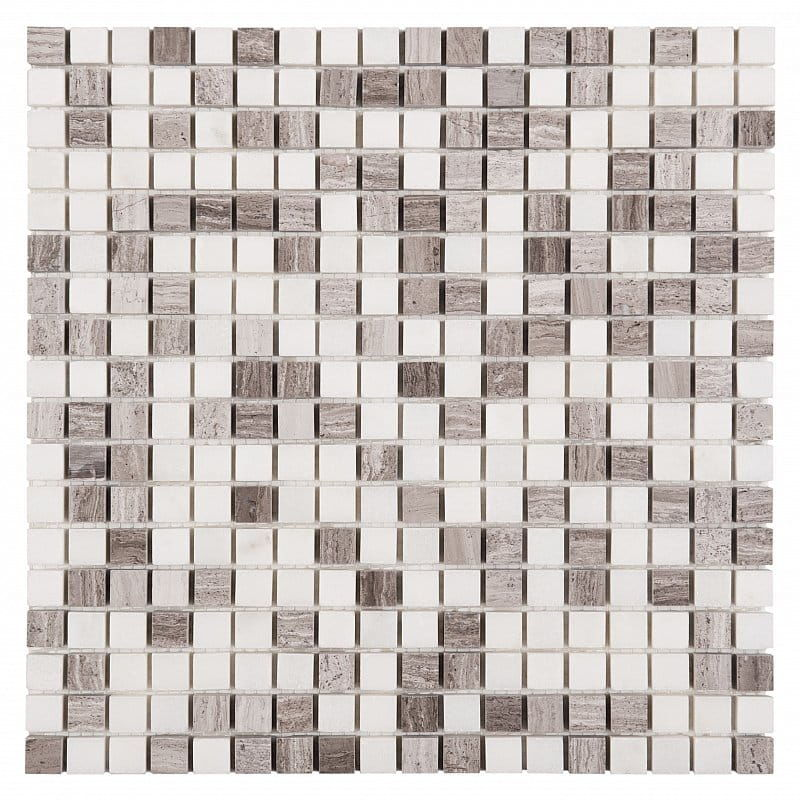 DUNIN Woodstone mozaika kamienna Woodstone Grey Mix 15