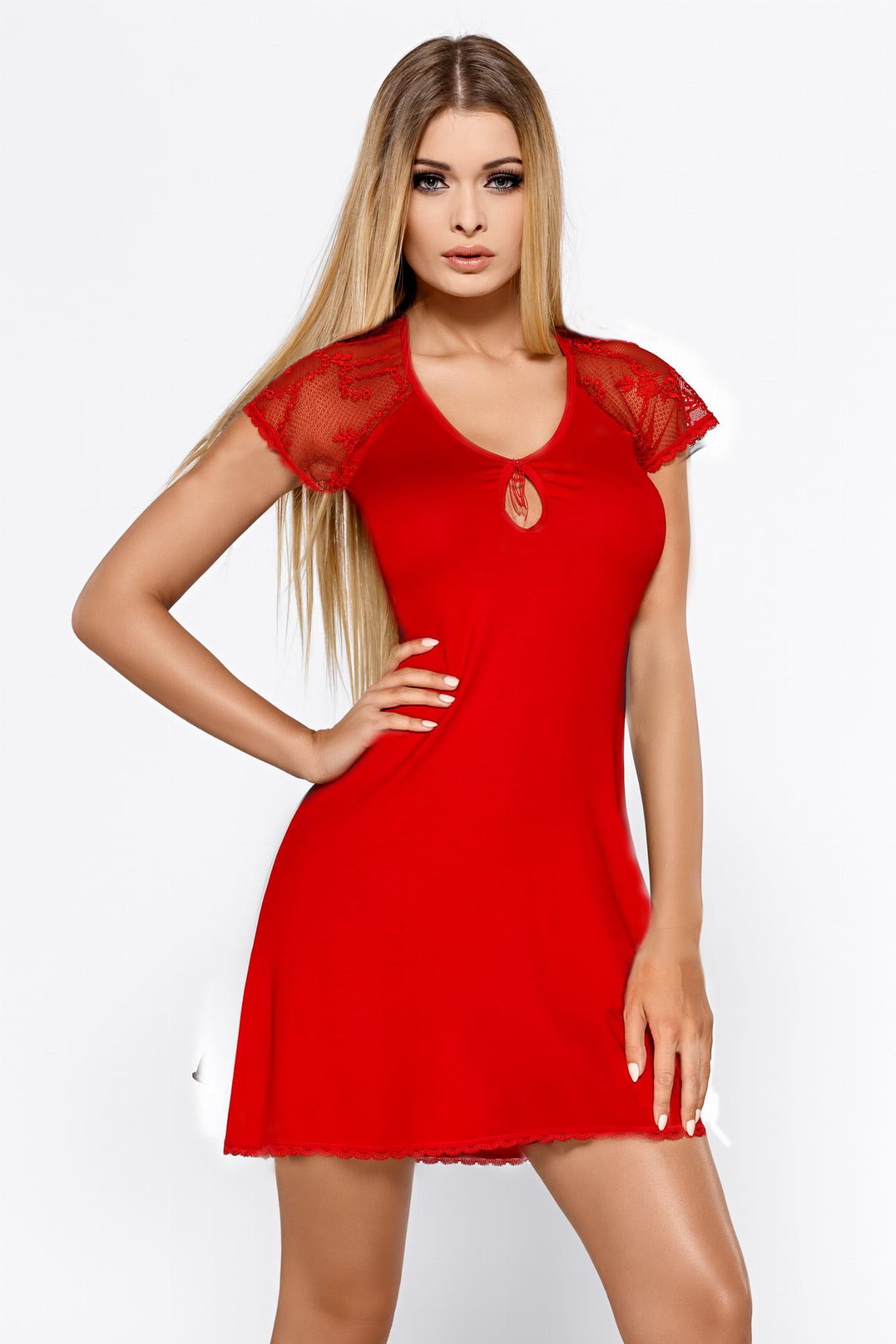 Koszulka nocna damska Hamana Hillary czerwona
