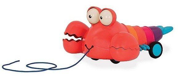 Zabawka do ciągnięcia Czerwony homar BX1674- B.toys, zabawka na sznurku