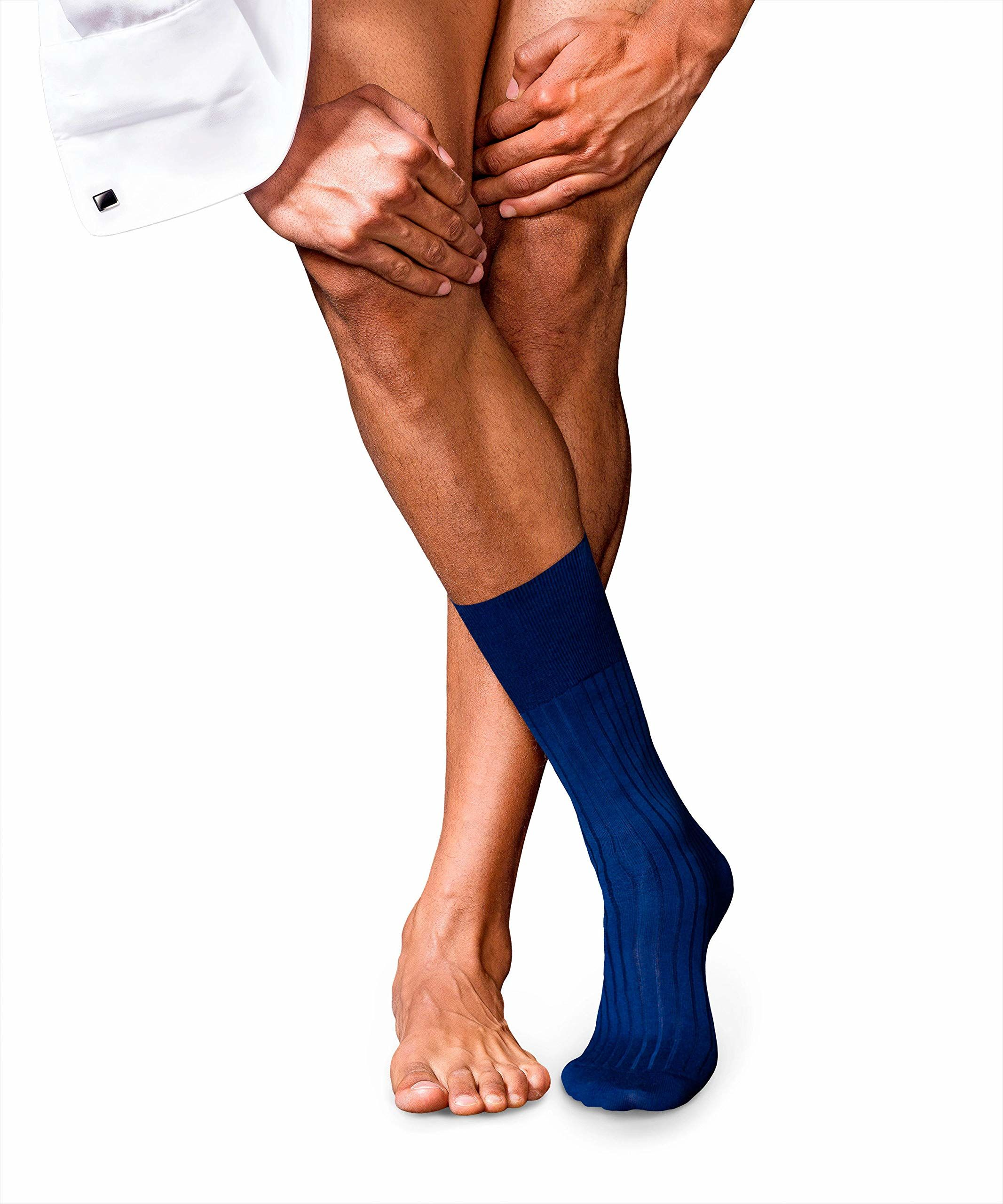 Falke Męskie nr 13 Finest Piuma Cotton Socken, royal Blue, 45-46