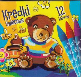 Kredki świecowe 12 kolorów okrągłe TETISKI TETIS /KT015-AB/