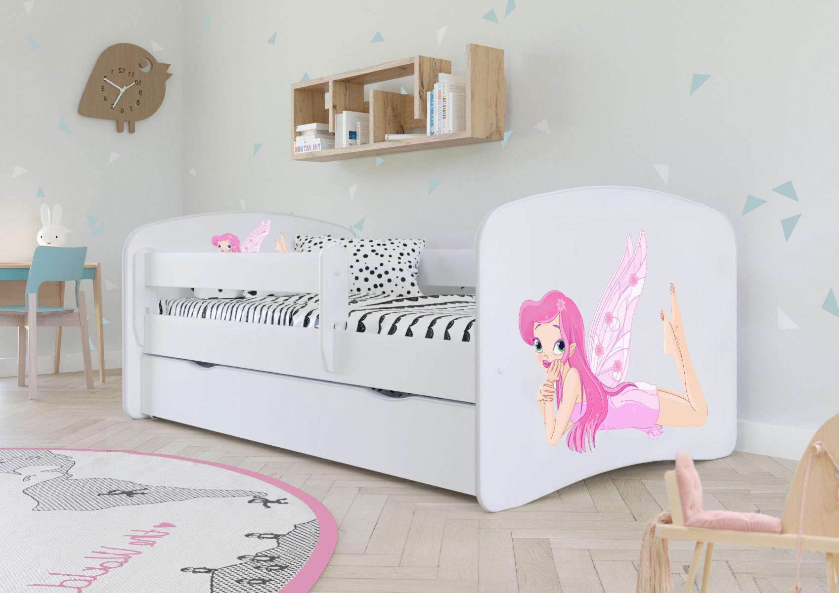 Łóżko dziecięce BABY DREAMS wróżka ze skrzydełkami 160x80