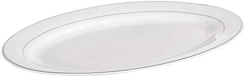 Ambition 23082 Półmisek Aura Silver 30,5 cm Talerz porcelanowy talerz na naczynia talerz płaski porcelana nowoczesny elegancki