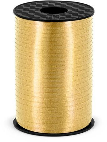 Wstążka plastikowa do balonów złota 5mm 225m PRP5-019