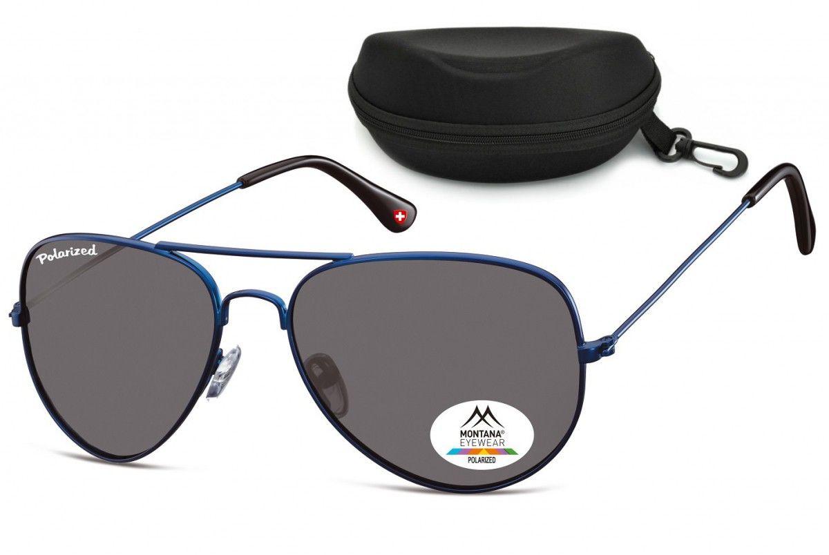Okulary Pilotki Aviator polaryzacyjne Montana MP96D