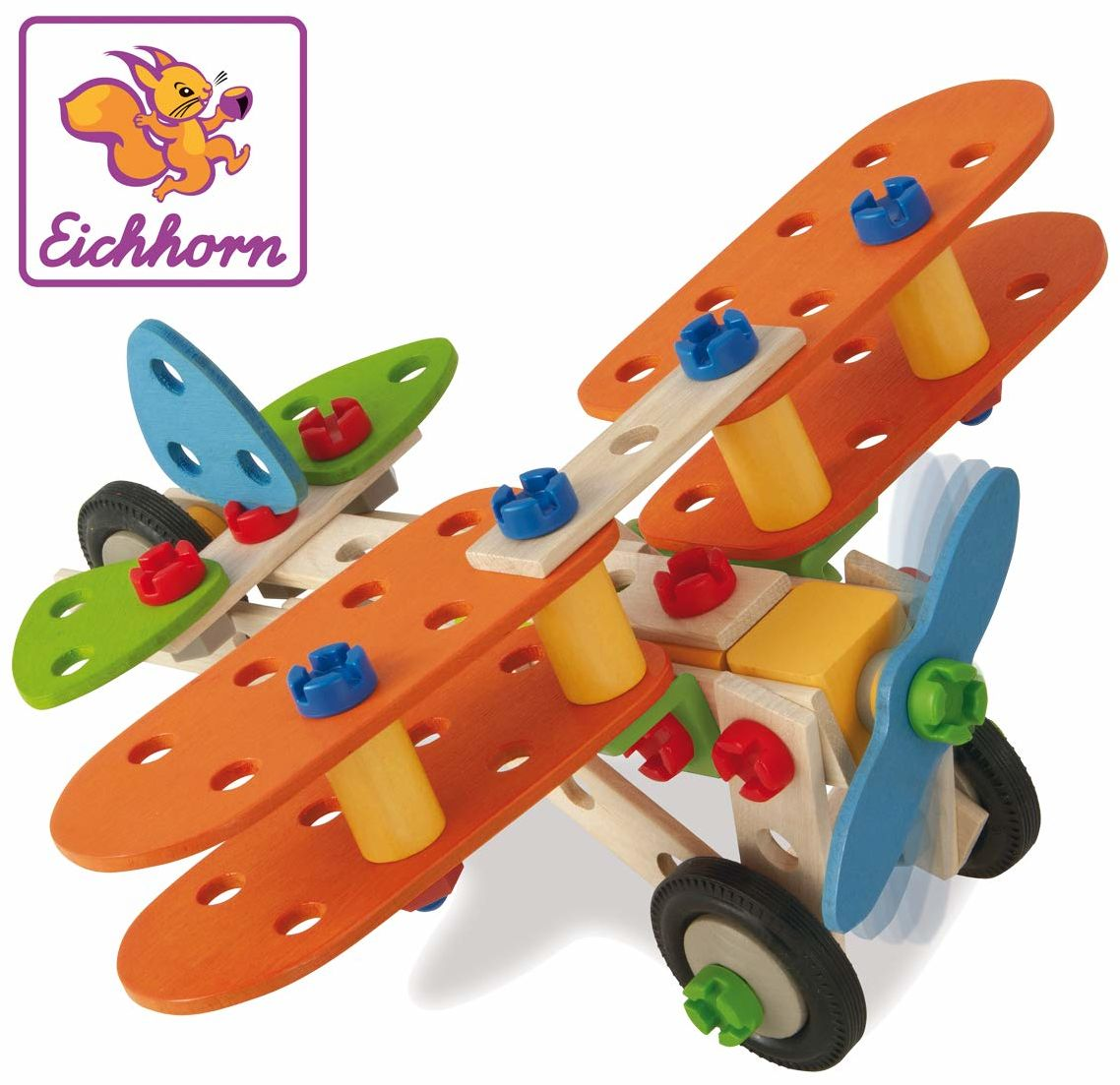 EH Klocki konstrukcyjne - samolot, 85 elementów
