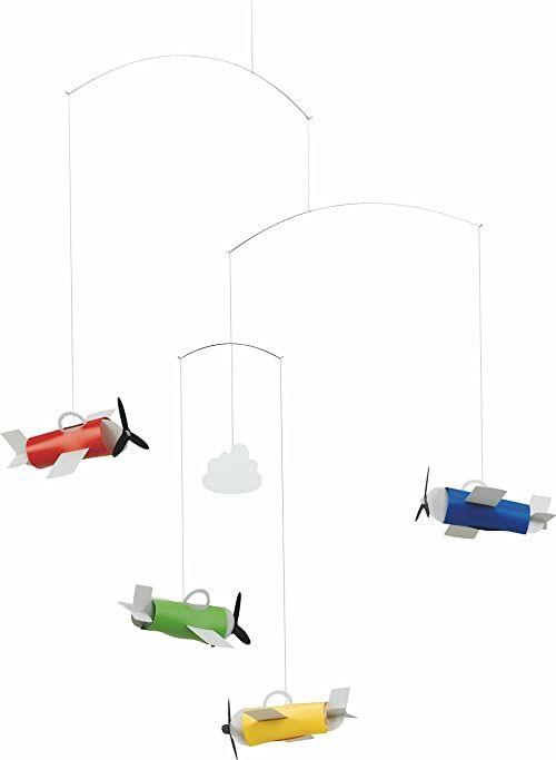 Flensted Mobiles Aeromobile Mobile, stal, wielokolorowa, 60 x 50 cm